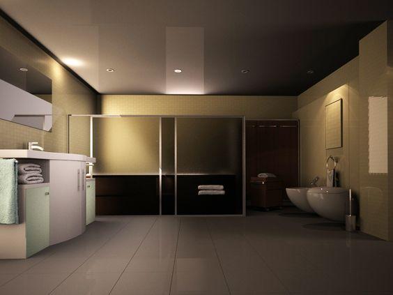 Ideas de #Baño, estilo #Contemporaneo color  #Marron,  #Marron,  #Marron, diseñado por Altia Group  #CajonDeIdeas