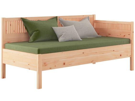 Zirben schlafsofa julia 90 x 200 cm zirbenholz massiv for Bettsofa 200 cm
