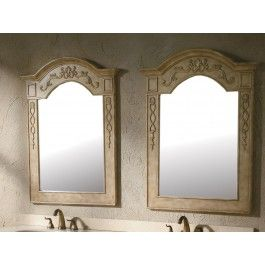 """James Martin 206-001-5901 Riviera 31"""" Mirror In Parchment [Sold as a pair]"""