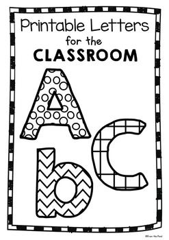 Use these fun printable letters for a multitude of learning experiences in the classroom.  Have your students color or paint them, cut them out and use them on bulletin boards, door decorations and in classroom activities!  Thank you so much for visiting my store!
