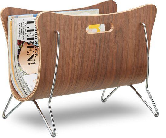 relaxdays Lectuurbak tijdschriftenhouder design hout