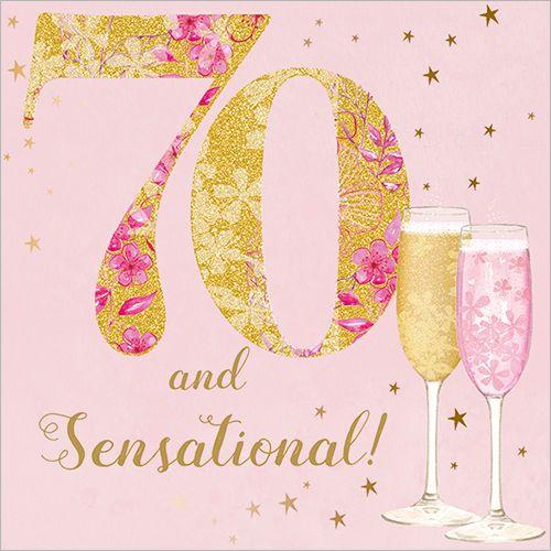 70th Birthday Card For Women Happy 70 Birthday 70th Birthday Card 70th Birthday Invitations