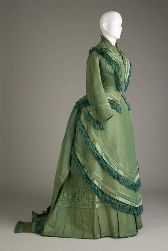 Circa 1874 Silk, Satin, and Taffeta Wedding Dress. Courtesy Of The Chicago History Museum.