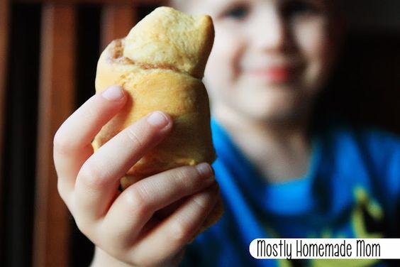 Mostly Homemade Mom - Banana Applesauce Crescents www.mostlyhomemademom.com