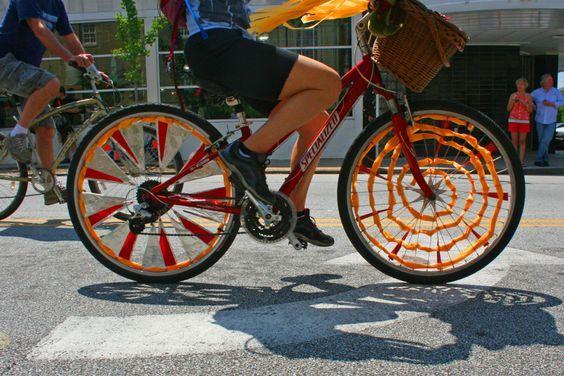 vélo enrubanné