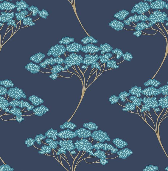 Kenneth James 2671-22409 Banyan Navy Tree Wallpaper - - AmazonSmile