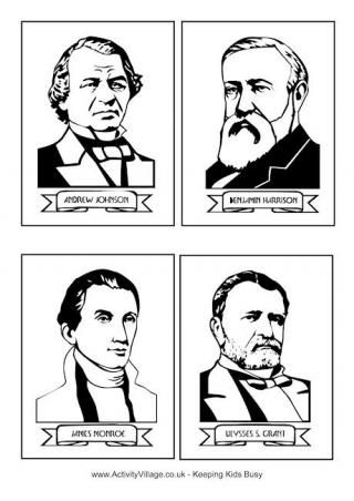 US President Cards.  Good to use with games or just learning about the Presidents.