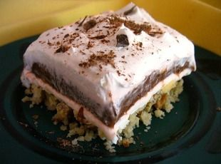 Della's Melt In Your Mouth Dessert Recipe.  Been making this via another name for over 30 years.  Banana pudding etc. is very good, too.