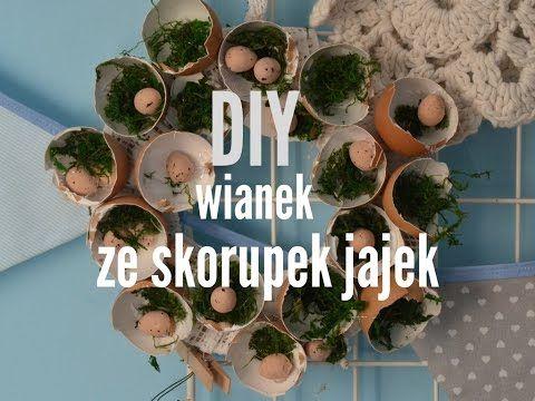 Wianek Stroik Lekka Zawieszka Ze Skorupek Jajek I Mchu Na Wielkanoc Diy Hanukkah Wreath Hanukkah Decor