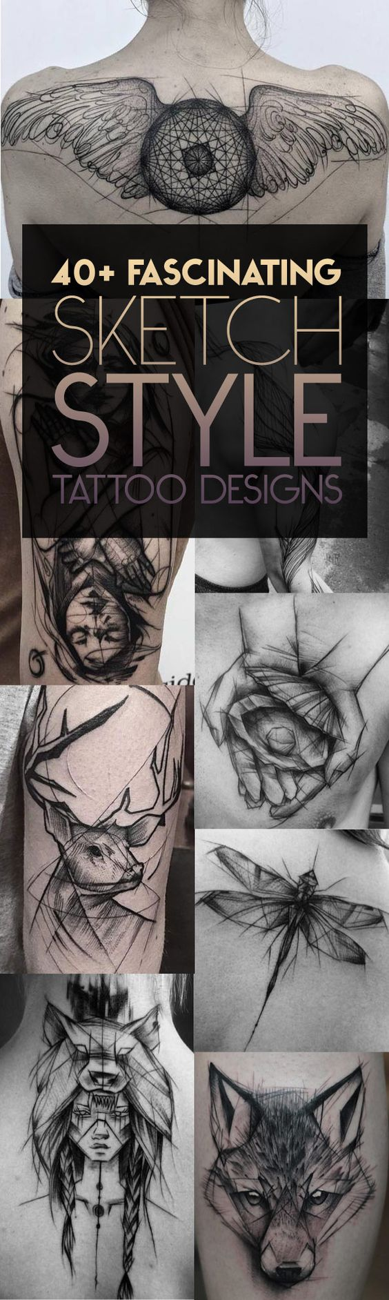 40 Fascinating Sketch Style Tattoos   TattooBlend