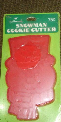 Hallmark Snowman cookie cutter NIP vintage 70s Frosty smiling red ...