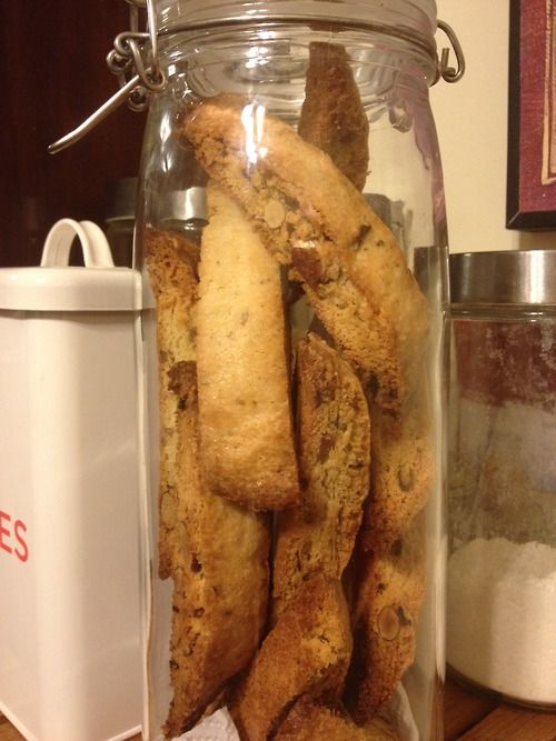 Lemon Rosemary Almond Biscotti