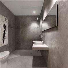 Grey Stucco Interior Bathroom Walls Google Search
