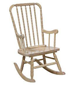Jenny Lind Whitewash Adult Rocker Home Rocking Chairs