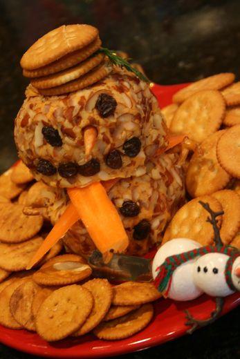 Snowman cheese ball!