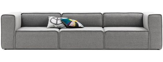 Boconcept Carmo Three Seater Sofa In Grey Lux Felt Fabric 2989 Eur Sweet Home Pinterest