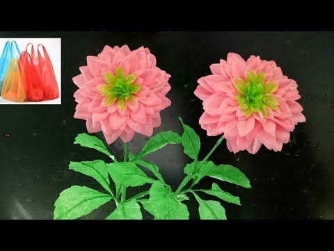 114 Cara Membuat Bunga Dahlia Dari Plastik Kresek How To Make Dahlia Flower With Plastic Bag Youtube Plastic Bottle Flowers Pom Pom Crafts Crafts