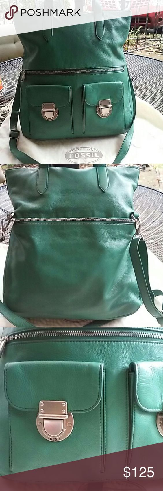 Fossil stunning fold over bag nwot New,comes with dust bag Fossil Bags