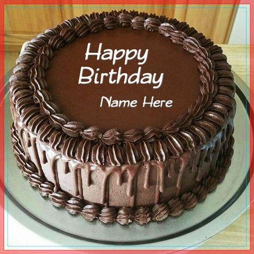 Birthday Chocolate Cake With Name Janu Chocolate Cake With Name