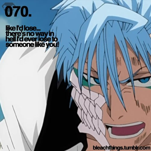 Grimmjow..you are so persistent..and very stubborn..that's what I like about you..XD
