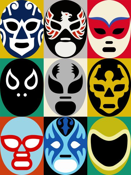 Lucha Libre 2 Art Print | L'wren scott, Urban and Heroes