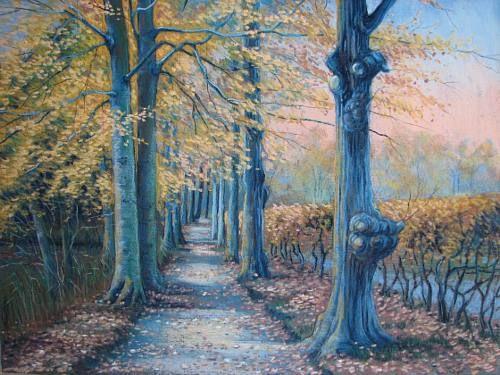 Kerstin Birk Kunst Landschaft: Herbst Natur: Wald Neuzeit Realismus