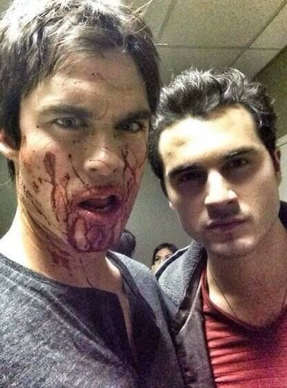 Ian Somerhalder (Damon) and Michael Malarkey (Enzo): Hot!HOT HOT HOT HOT HOT