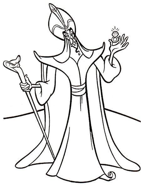 Disney Villains Coloring Page Jafar Kidos Pinterest