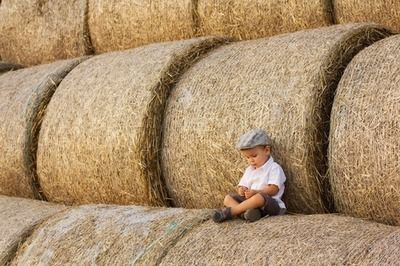 hangin' out in the hay