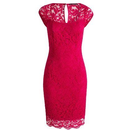 Tolles Kleid in Pink von Esprit. Mit dem engen Schnitt und der kräftigen Farbe wird das Kleid zum wunderschönen Hingucker.