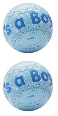 """""""IT'S A BOY"""" Baseball -BIRTH ANNOUNCEMENT/Keepsake/GIFT/BLUE - INCLUDES DISPLAY BOX/Shower/CHRISTENING/NEW BABY GIFT"""
