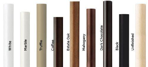 pin on wood curtain rod poles