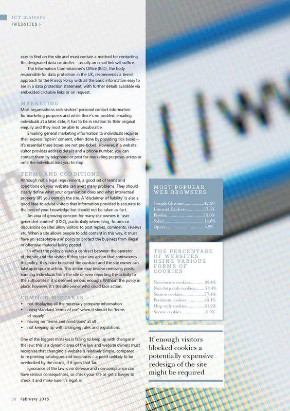 Client: SGH Martineau Outlet: Education Executive Topic: Website Legal (IP) - Part 2
