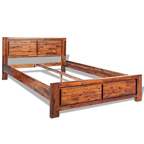 Bed Frame Queen Size Solid 100 Acacia Wood Platform Bed By Bluecc Queen 60 Wooden Bed Frames Double Bed Frame Bed Frame