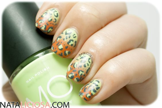 Leopard manicure using MO by Beauty Express