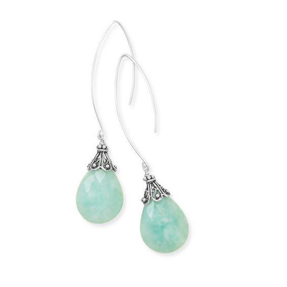 Baila Luna Mint Drop Earrings by ZukovaBoutique on Etsy, $41.64