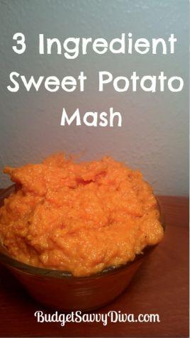3 Ingredient Sweet Potato Mashed | Recipe | Gluten free ...