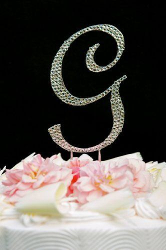 Swarovski Crystal Monogram Wedding Cake Topper Large Letter G by Elegant Bridal, http://www.amazon.com/dp/B005ALMH14/ref=cm_sw_r_pi_dp_GGfmqb18DPHYE