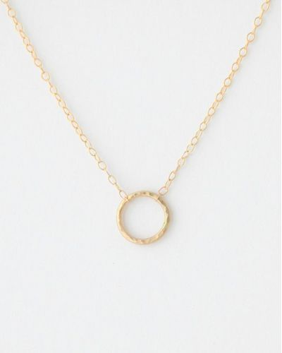 Small Hammered Circle Necklace, I'm such a big fan of simplicity in everyday jewelry and this fits the bill perfectly! Simplicity