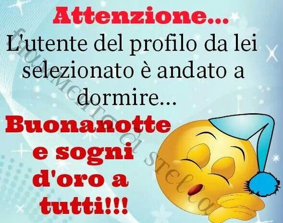Attention. The user profile that you have selected, has gone to sleep ... good night and sweet dreams to all ~ Notte: