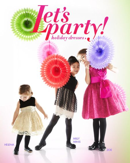 Little Girl's Christmas Party dresses