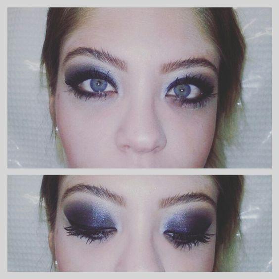 Make para noite olhos preto bem marcado. Modelo querida Dayane Lima.