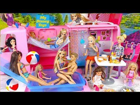 Barbie Pool /& Car Bundle Play-set Pool Car Ken Barbie Beach Dolls *New*