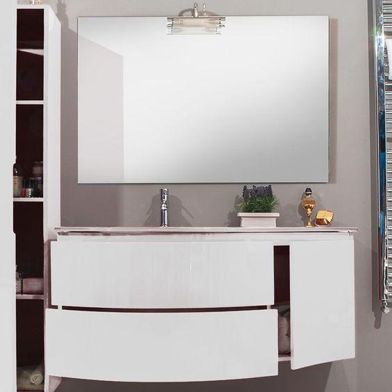 Mobile bagno moderno design sospeso finitura laccata ...