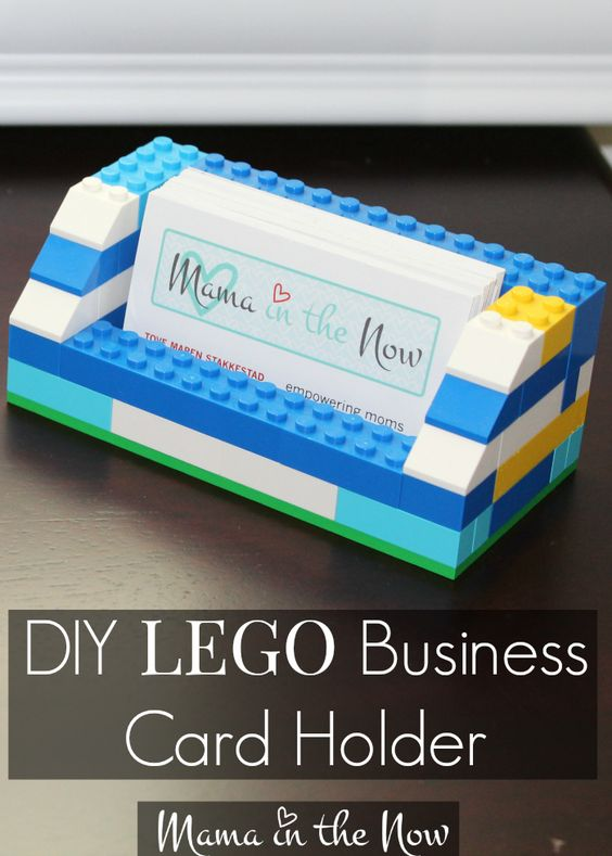 Diy lego business card holder mothers father39s day and for Lego business cards