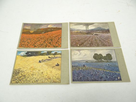Vintage Lot Old Unposted L V Senger Metin Weltpostverein Postcards Postcard | eBay