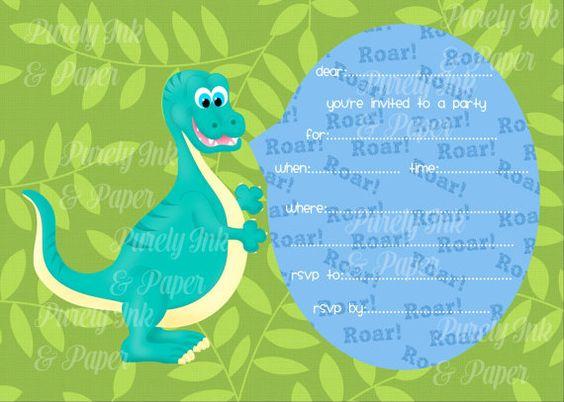 Dinosaur Fill In Invitation