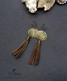 Tutorial Metalwork: Pendientes martillados con Cordón de cuero   Para estos pendientes con detalles de  Cuero  necesitas:    - Lámina de la...
