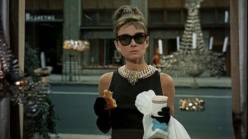 Breakfast at Tiffany's (1961) - Most movie characters have breakfast with someone. Not Holly (Audrey Hepburn). She's introspective and intriguing without saying a word. Read more of Breakfast in Classic Movies (and How it Drives the Plot)  at http://javabeanrush.blogspot.com/2013/10/breakfast-in-classic-movies-and-how-it: