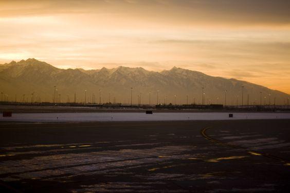 landing in salt lake city.: